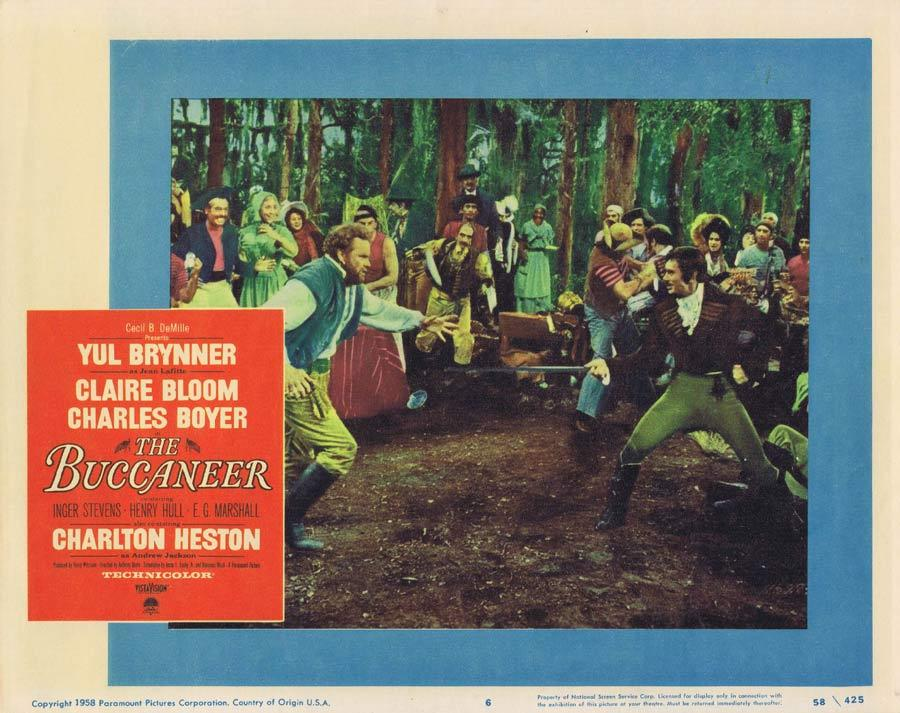 THE BUCCANEER Lobby Card 6 Charlton Heston Yul Brynner