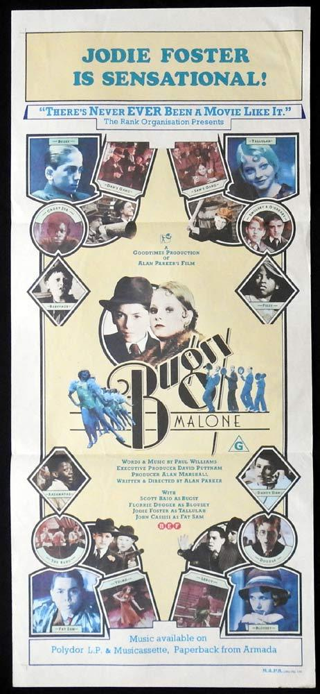 BUGSY MALONE Original Daybill Movie Poster Scott Baio