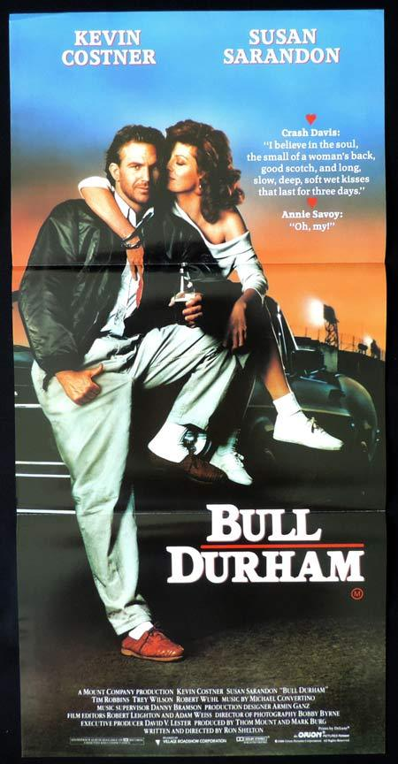 BULL DURHAM Original Daybill Movie Poster Kevin Costner