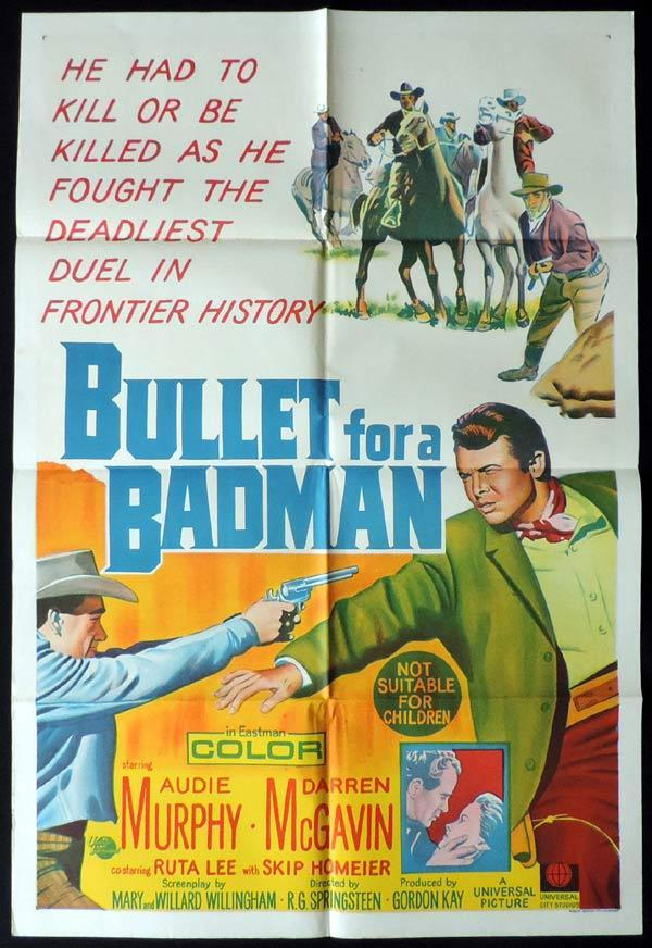 Bullet For A Badman One Sheet Movie Poster Audie Murphy