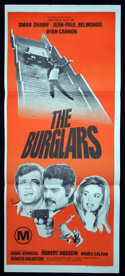 THE BURGLARS Daybill Movie Poster Jean-Paul Belmondo Dyan Cannon