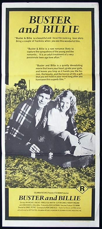 BUSTER AND BILLIE Original daybill Movie Poster Jan-Michael Vincent Joan Goodfellow