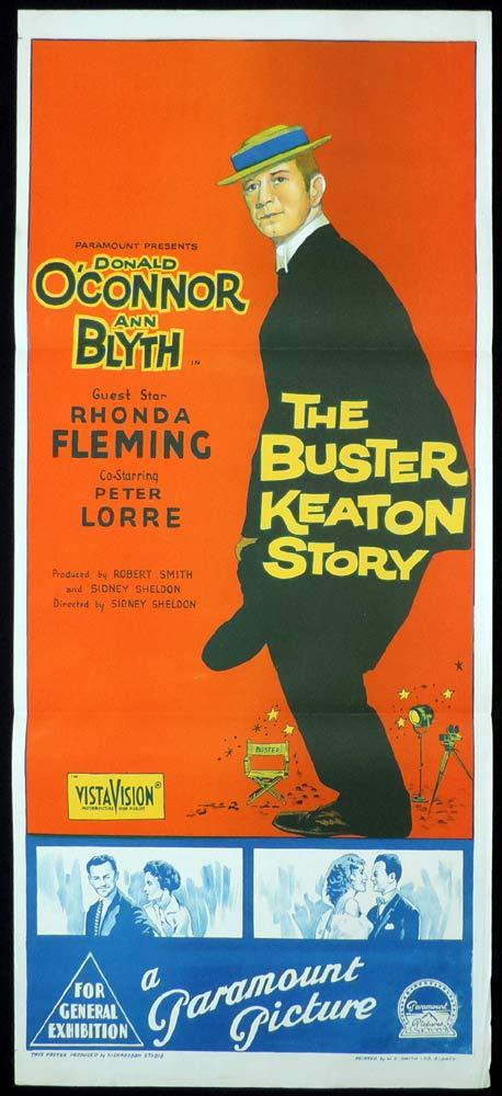 THE BUSTER KEATON STORY Original Daybill Movie Poster Richardson Studio Donald O'Connor