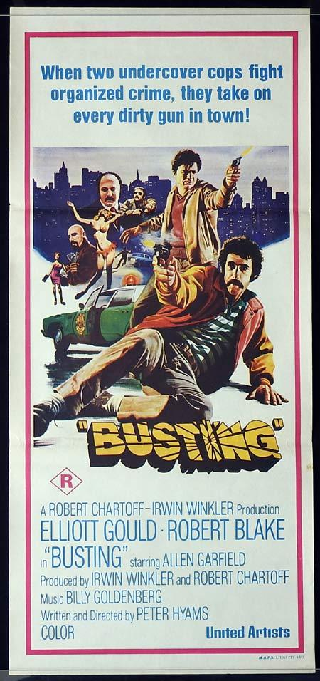 BUSTING Daybill Movie Poster Robert Blake Elliott Gould