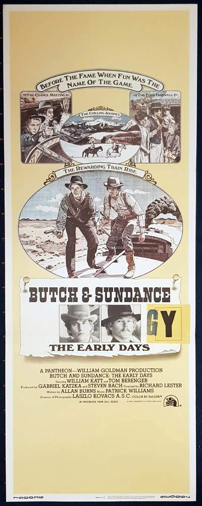 BUTCH AND SUNDANCE THE EARLY DAYS Original US Insert Movie Poster Tom Berenger