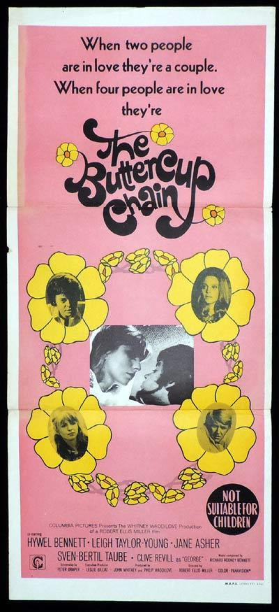 THE BUTTERCUP CHAIN Original Daybill Movie Poster Hywel Bennett