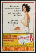 BUTTERFIELD 8 One Sheet Movie Poster Elizabeth Taylor