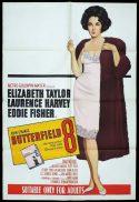 BUTTERFIELD 8 One Sheet Movie Poster 1966r Elizabeth Taylor