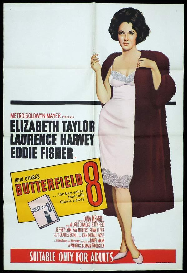BUTTERFIELD 8 One Sheet Movie Poster 1960sr Elizabeth Taylor