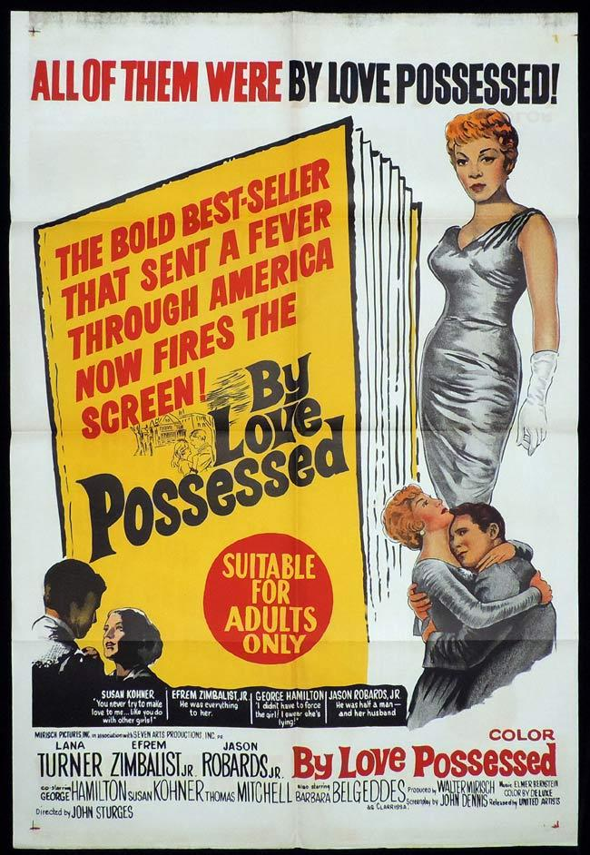 BY LOVE POSSESSED One Sheet Movie Poster Lana Turner