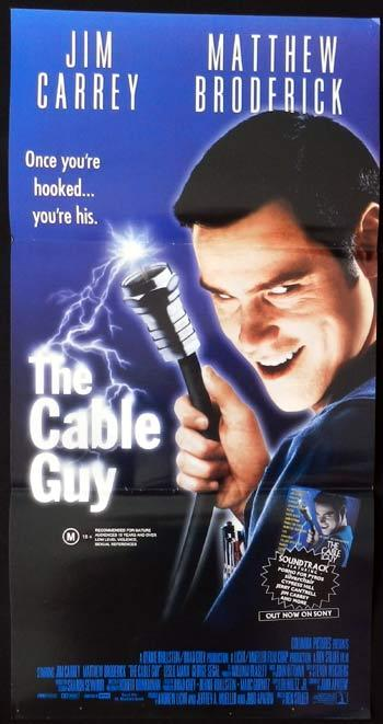 THE CABLE GUY daybill Movie poster Jim Carrey