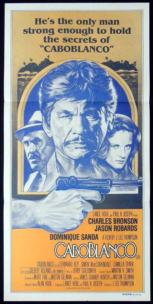 CABOBLANCO Original Daybill Movie poster CHARLES BRONSON Jason Robards