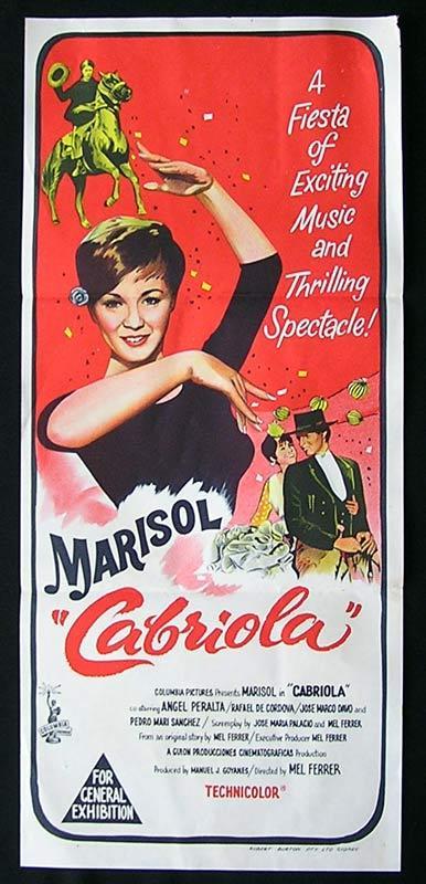 CABRIOLA Daybill Movie Poster Marisol Mel Ferrer