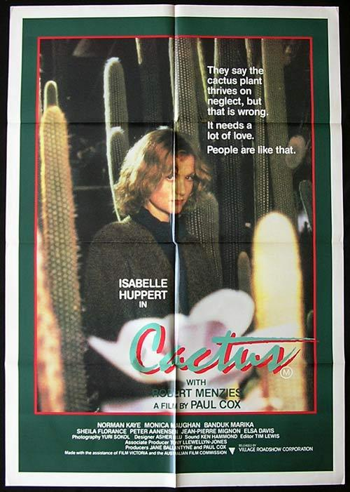 CACTUS One sheet movie poster Paul Cox Huppert