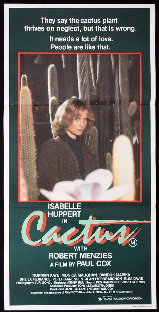 CACTUS Original Daybill Movie poster Isabelle Huppert