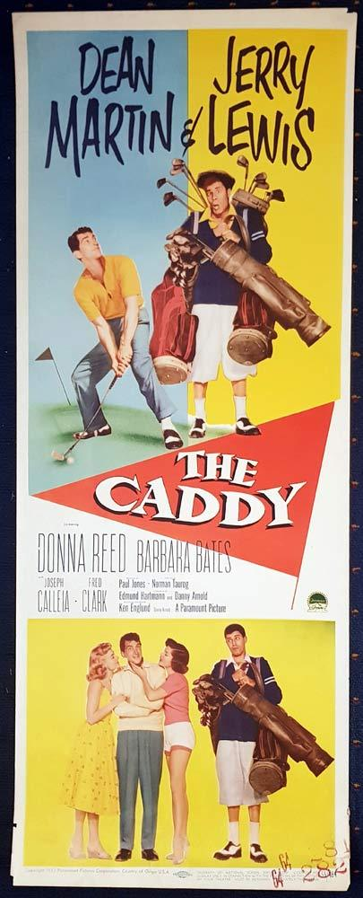 THE CADDY Original US Insert Movie Poster Dean Martin Jerry Lewis Golf