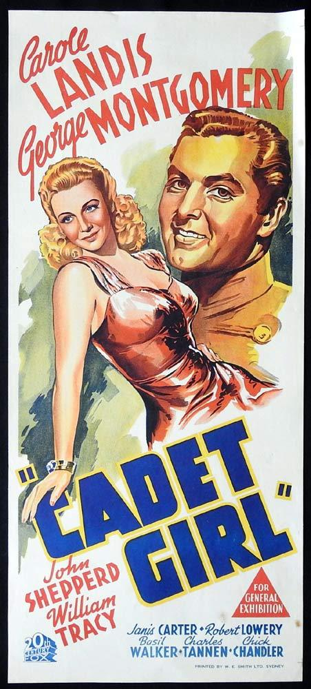 CADET GIRL Original Daybill Movie poster Carole Landis George Montgomery