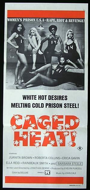 CAGED HEAT '74-Bad Girl Prison BARBARA STEELE poster