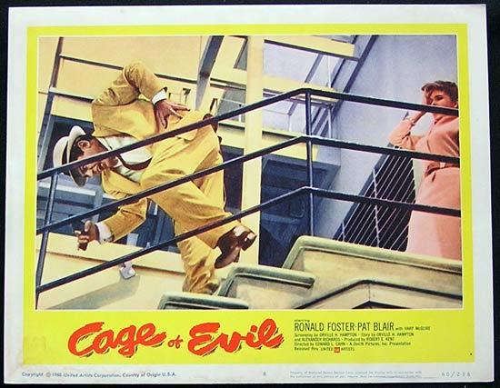 CAGE OF EVIL 1960 Film Noir Bad Girl Lobby card #8