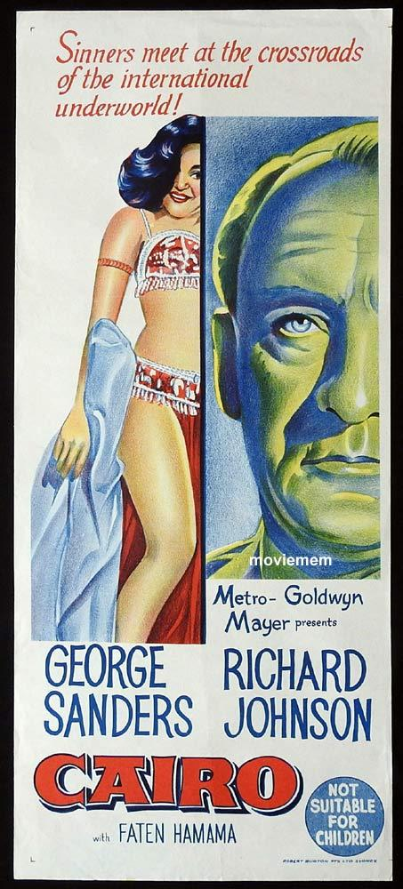 CAIRO Original Daybill Movie Poster George Sanders Richard Johnson