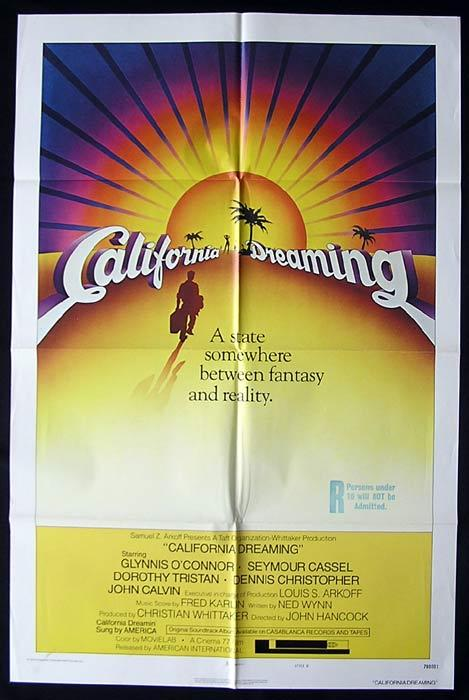 CALIFORNIA DREAMING Original One sheet Movie poster  Glynnis O'Connor Dennis Christopher Surfing
