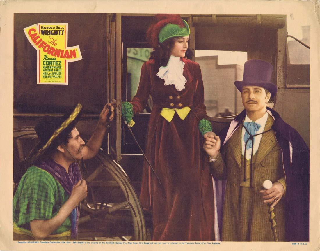 THE CALIFORNIAN Original Lobby Card Ricardo Cortez Marjorie Weaver 1937