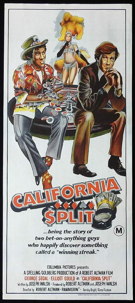 CALIFORNIA SPLIT Original Daybill Movie Poster George Segal Elliott Gould