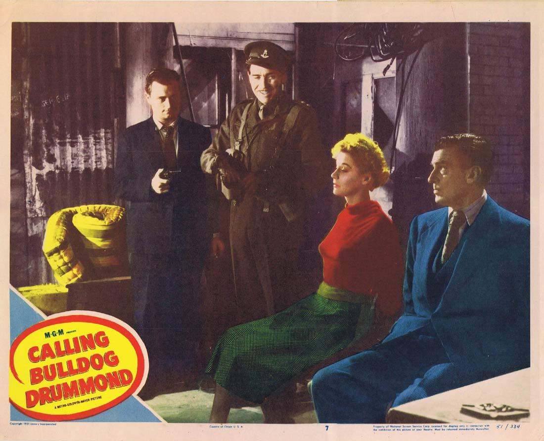 CALLING BULLDOG DRUMMOND Lobby Card 5 Walter Pidgeon Robert Beatty Margaret Leighton