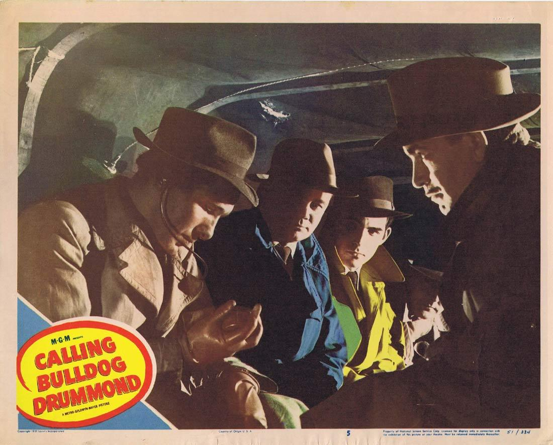 CALLING BULLDOG DRUMMOND Lobby Card 7 Walter Pidgeon Robert Beatty Margaret Leighton
