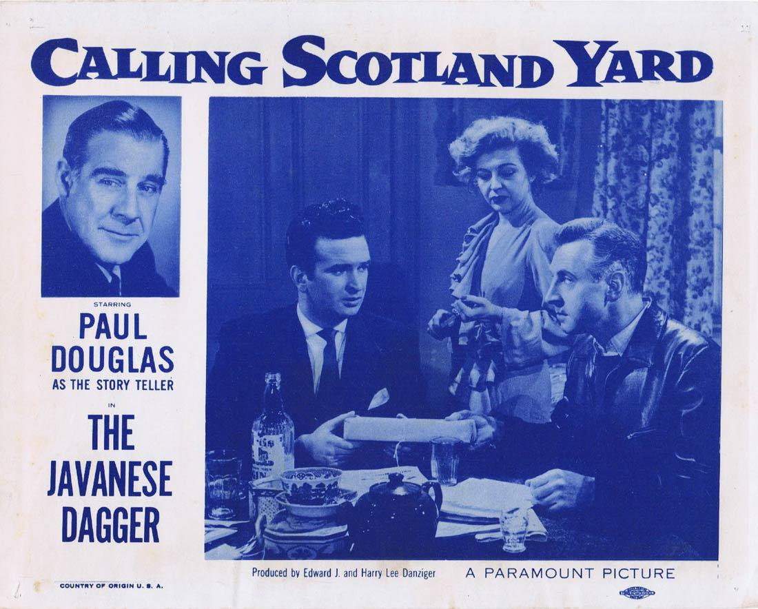 CALLING SCOTLAND YARD The Javanese Dagger Lobby Card 5 Rossano Brazzi Joan Fontaine