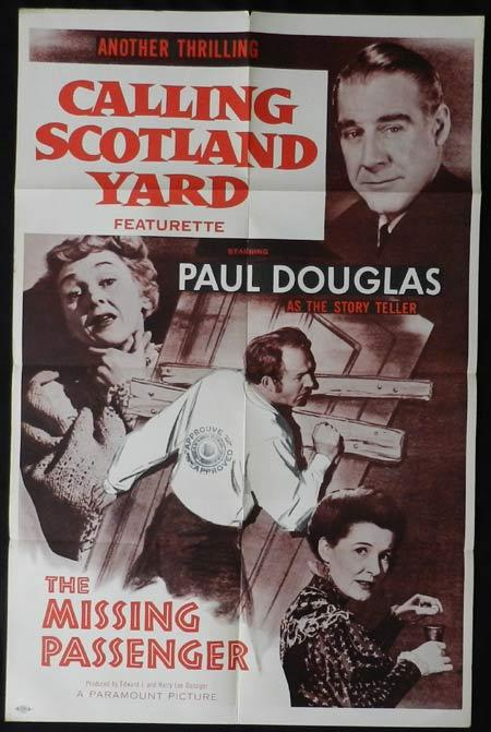 CALLING SCOTLAND YARD Original One sheet Movie poster Paul Douglas The Missing Passenger
