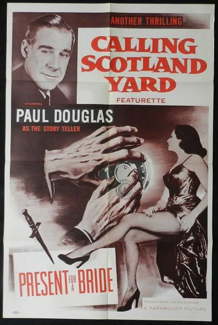 CALLING SCOTLAND YARD Original One sheet Movie poster Paul Douglas Present for a Bride