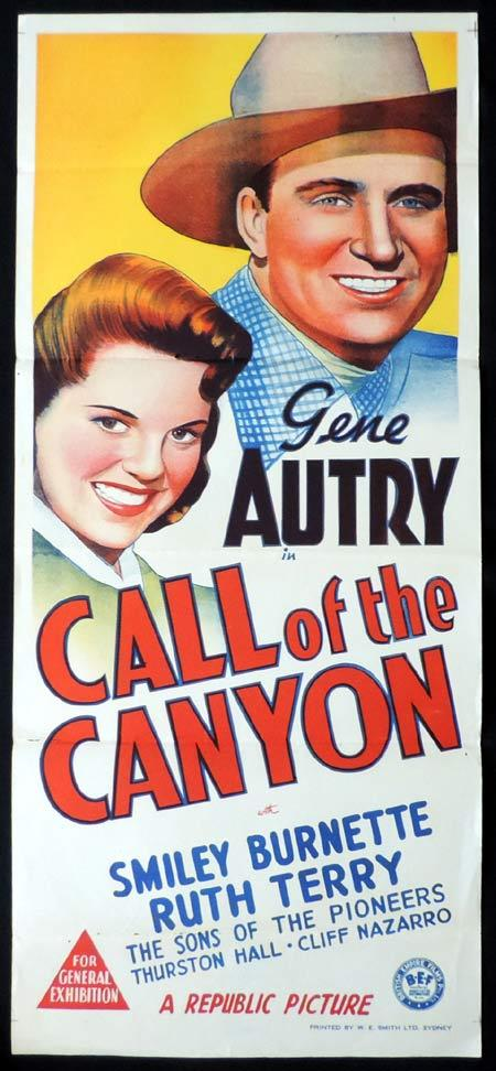 CALL OF THE CANYON Original Daybill Movie Poster Gene Autry