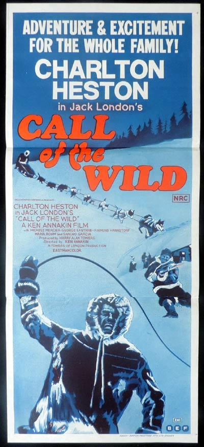 CALL OF THE WILD Original Daybill Movie Poster Charlton Heston
