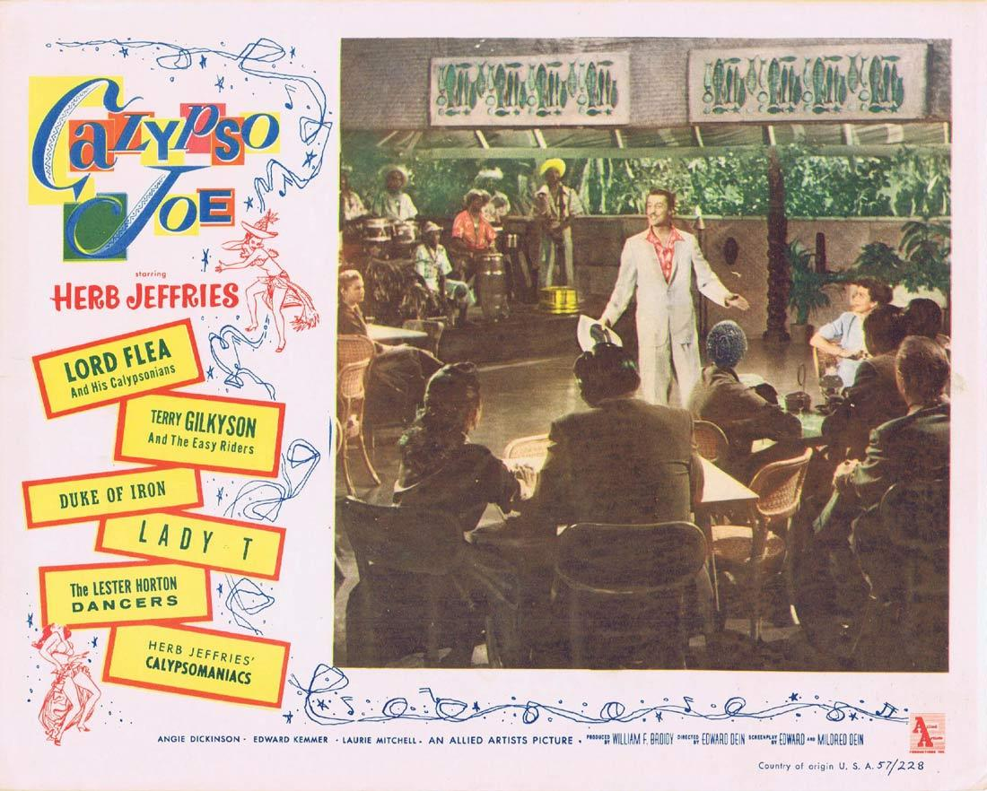 CALYPSO JOE Lobby Card 8 Herb Jeffries Angie Dickinson