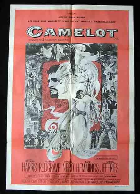 CAMELOT 1973r Richard Harris Vanessa Redgrave 1sh Movie poster