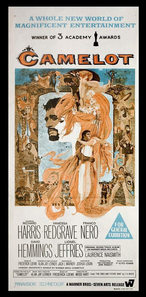 CAMELOT Movie Poster Richard Harris Australian daybill Movie poster