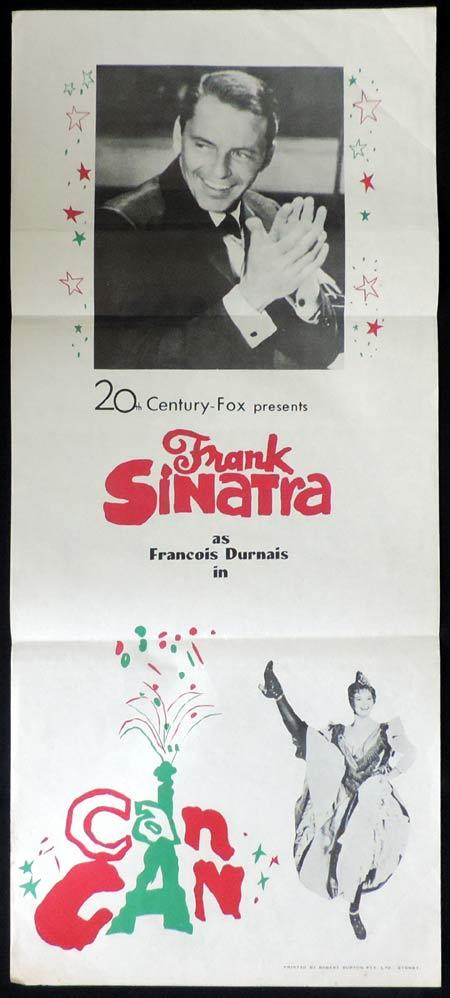 CAN CAN Original Daybill Movie Poster Frank Sinatra