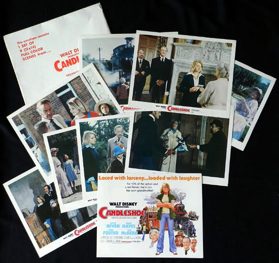 CANDLESHOE 1977 Lobby Card Set Jodie Foster