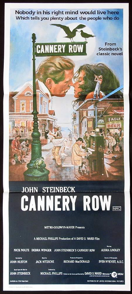 CANNERY ROW Original Daybill Movie poster NICK NOLTE Debra Winger Audra Lindley