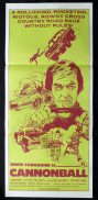 CANNONBALL David Carradine Road Race VINTAGE Daybill Movie poster