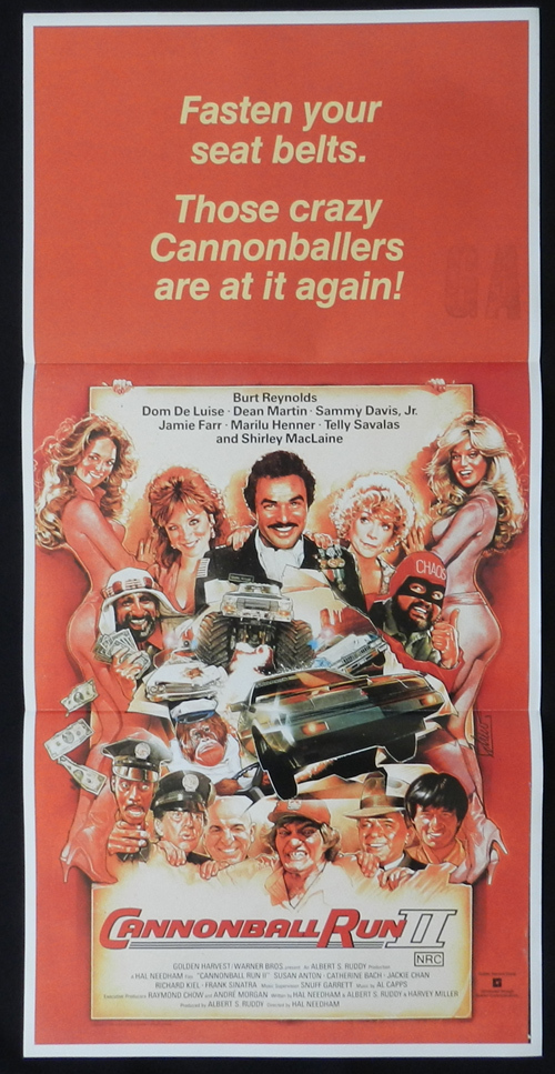 CANNONBALL RUN II Original Daybill Movie Poster Drew Struzan art