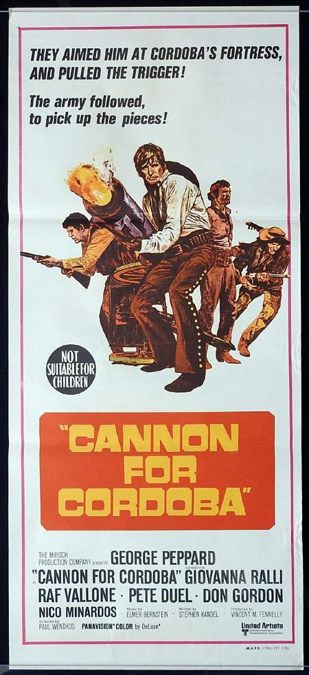 CANNON FOR CORDOBA daybill Movie poster George Peppard