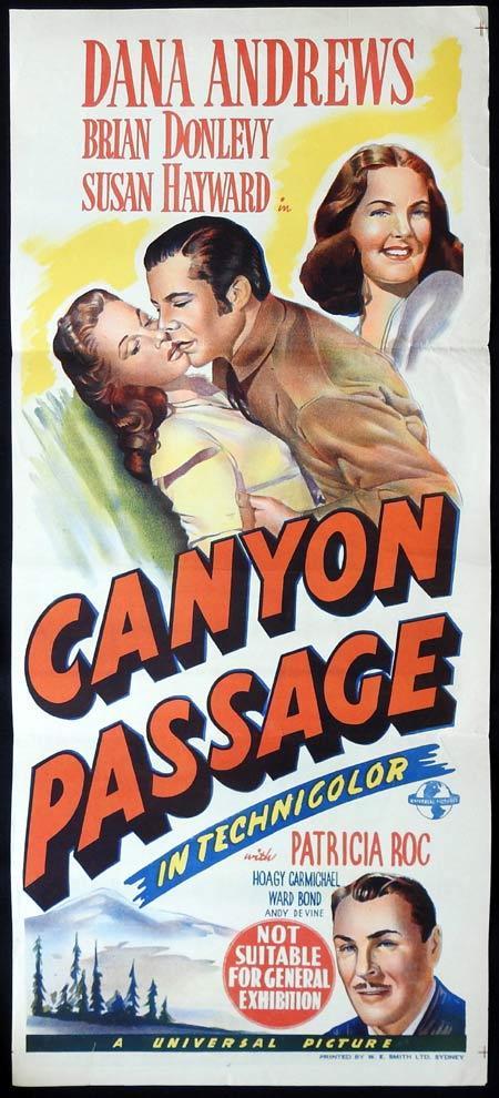 CANYON PASSAGE Original Daybill Movie Poster Dana Andrews Brian Donlevy Susan Hayward