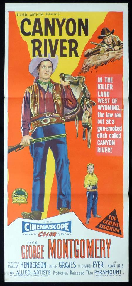 CANYON RIVER Original Daybill Movie Poster GEORGE MONTGOMERY Richardson Studio
