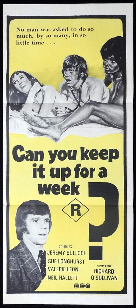 CAN YOU KEEP IT UP FOR A WEEK Original Daybill Movie poster British Comedy