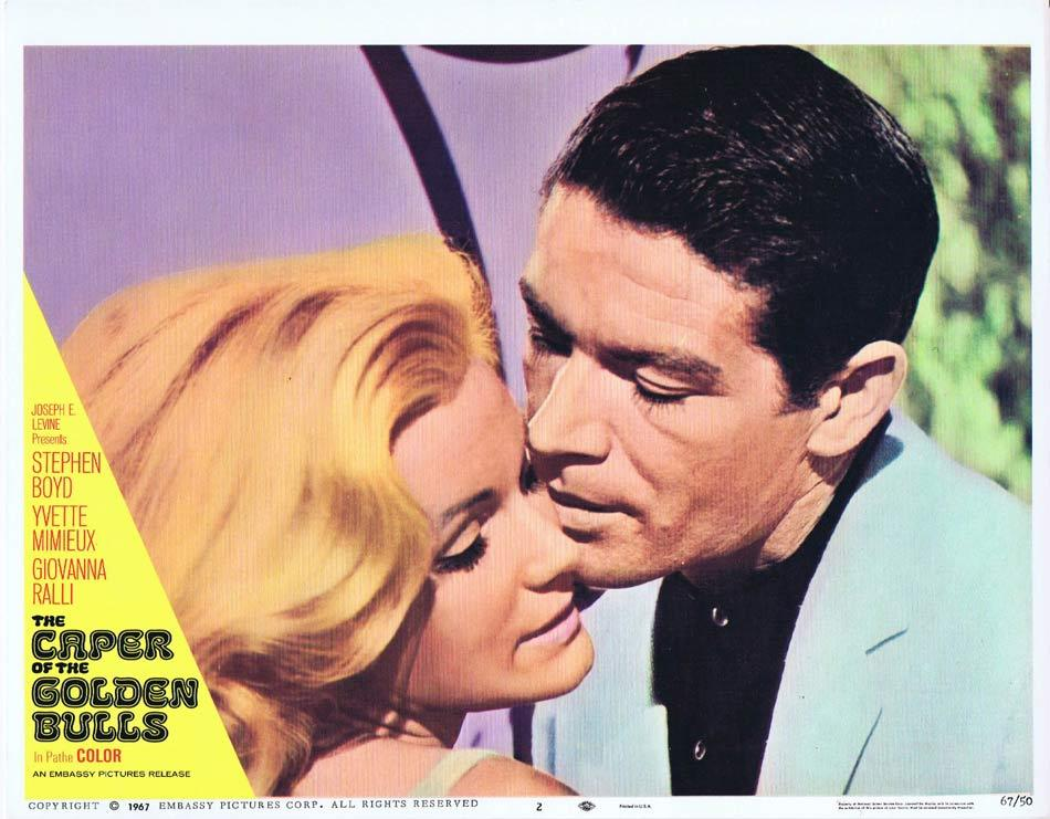 CAPER OF THE GOLDEN BULLS Lobby Card 2 Stephen Boyd Yvette Mimieux Giovanna Ralli