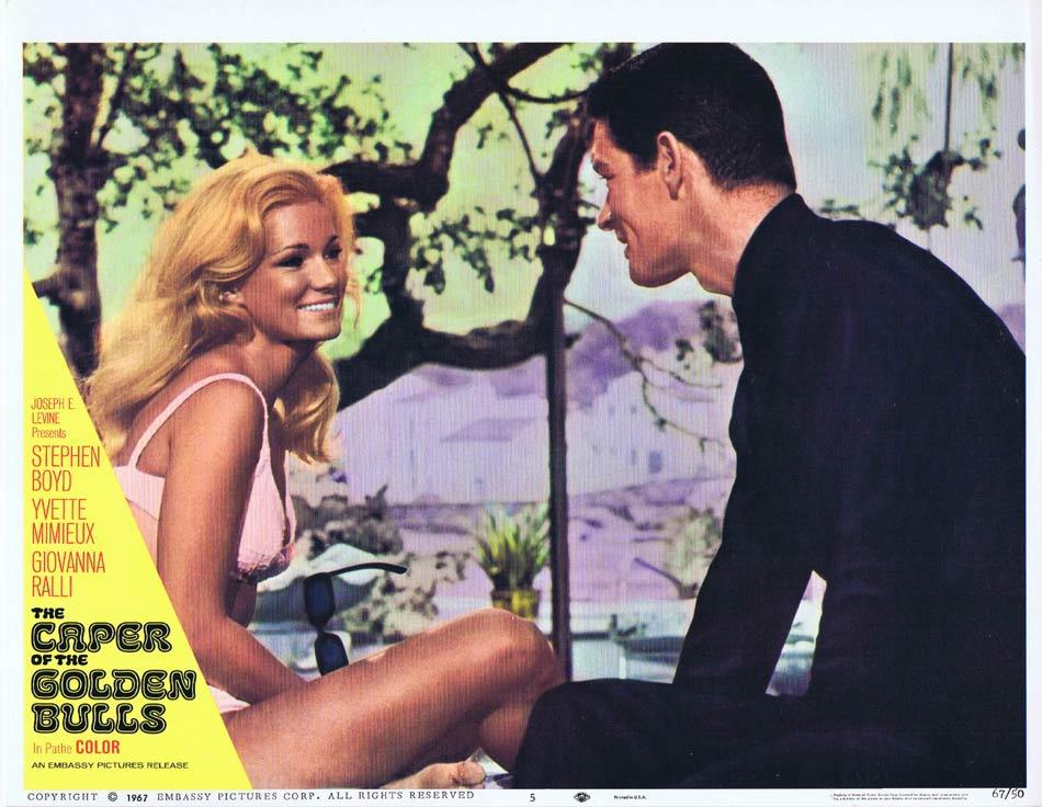 CAPER OF THE GOLDEN BULLS Lobby Card 5 Stephen Boyd Yvette Mimieux Giovanna Ralli