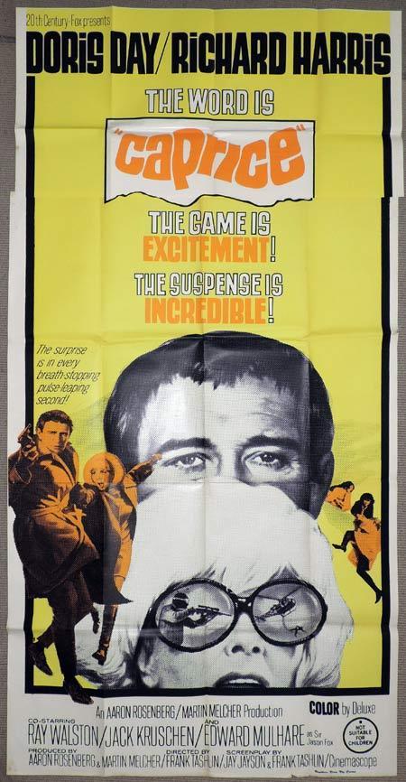 CAPRICE Original 3 Sheet Movie Poster Doris Day Richard Harris