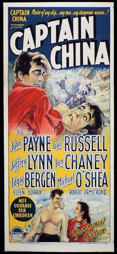 CAPTAIN CHINA Daybill Movie Poster Richardson Studio John Payne